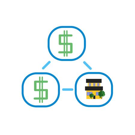 Icona di flusso di denaro vettoriale isolato su sfondo bianco per il vostro web e progettazione di app per dispositivi mobili, concetto di logo di flusso di denaro
