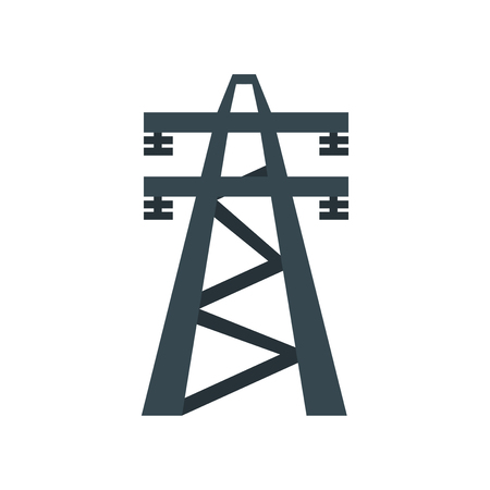 Electric tower icon vector isolated on white background for your web and mobile app design, Electric tower logo concept Logo
