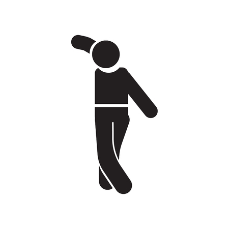 Man dancing icon vector isolated on white background for your web and mobile app design, Man dancing logo concept Stock Illustratie