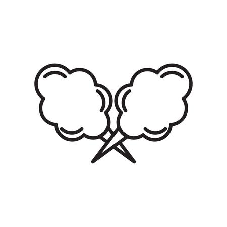 Wata cukrowa wektor ikona na białym tle na białym tle do projektowania stron internetowych i aplikacji mobilnych, koncepcja logo wata cukrowa Logo