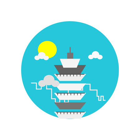 Taipei 101 icon vector isolated on white background for your web and mobile app design, Taipei 101 logo concept