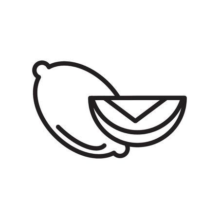 Citroen pictogram vector geïsoleerd op witte achtergrond voor uw web en mobiele app design, citroen logo concept