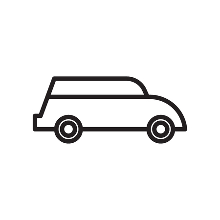 Car icon vector isolated on white background for your web and mobile app design, Car logo concept 向量圖像