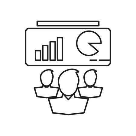 Presentation icon vector isolated on white background for your web and mobile app design, Presentation logo concept Ilustração