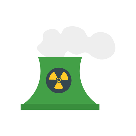 Nuclear plant icon vector isolated on white background for your web and mobile app design, Nuclear plant logo concept Vettoriali
