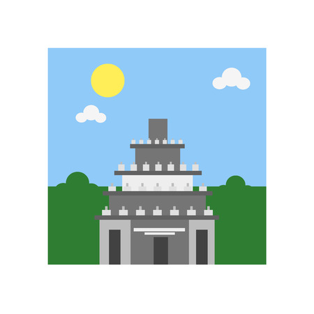 Prambanan icon vector isolated on white background for your web and mobile app design, Prambanan logo concept