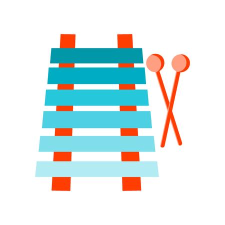 Icona di xilofono vettoriale isolato su sfondo bianco per il vostro web e progettazione di app per dispositivi mobili, concetto di marchio di xilofono