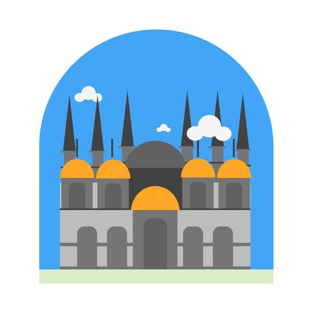 Basilica di San Marco icona vettoriale isolato su sfondo bianco per il vostro web e progettazione mobile app, concetto di marchio Basilica di San Marco Vettoriali