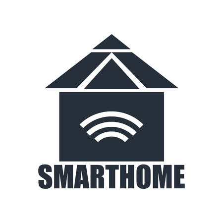 Smarthome icon vector isolated on white background for your web and mobile app design, Smarthome logo concept Çizim