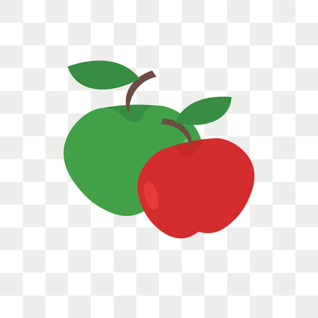 Apple vector icon isolated on transparent background, Apple logo concept Banque d'images - 108454614