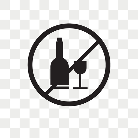 No drinking vector icon isolated on transparent background, No drinking logo concept