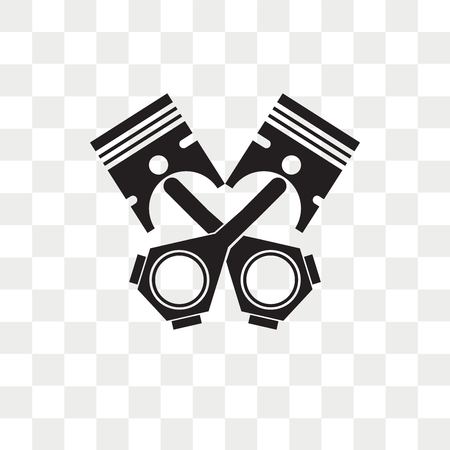 Piston vector icon isolated on transparent background, Piston logo concept Logo