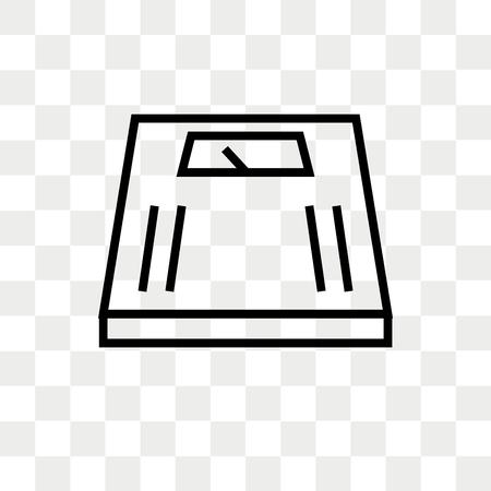 Schaal vector pictogram geïsoleerd op transparante achtergrond, schaal logo concept