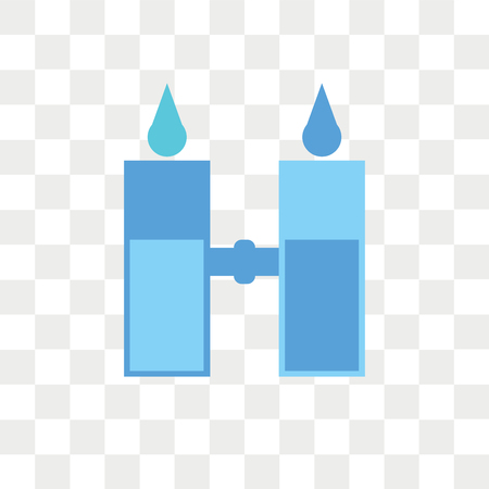 Desalination vector icon isolated on transparent background, Desalination logo concept