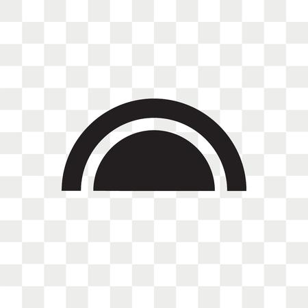 Halbkreis-Vektorikone lokalisiert auf transparentem Hintergrund, Halbkreis-Logo-Konzept Logo
