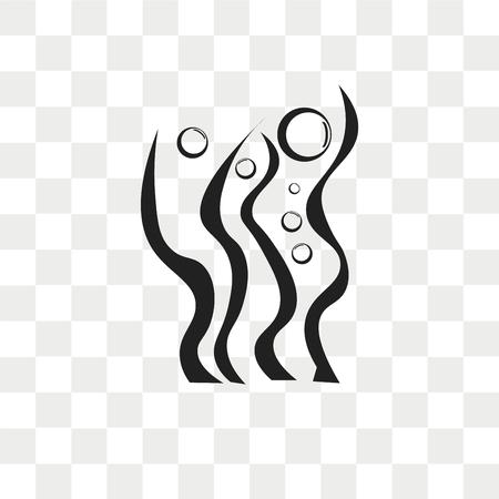 Icône de vecteur d'algues isolé sur fond transparent, concept logo algues