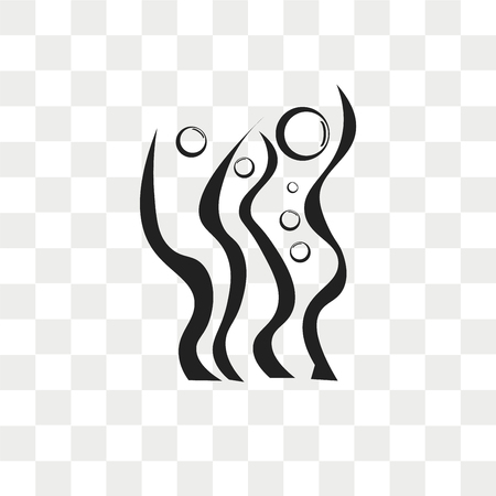 Seaweed vector icon isolated on transparent background, Seaweed logo concept
