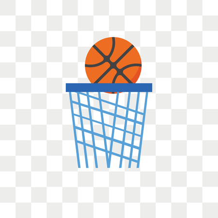 Basketball vector icon isolated on transparent background, Basketball logo concept