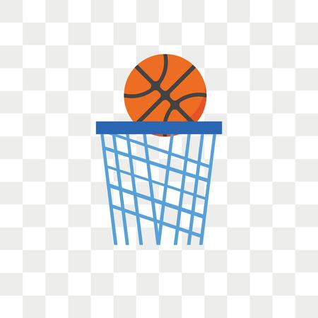 Icône de vecteur de basket-ball isolé sur fond transparent, concept de logo de basket-ball Logo