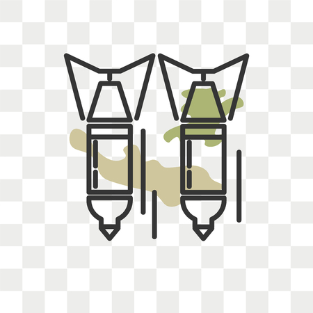 Bomb vector icon isolated on transparent background, Bomb logo concept