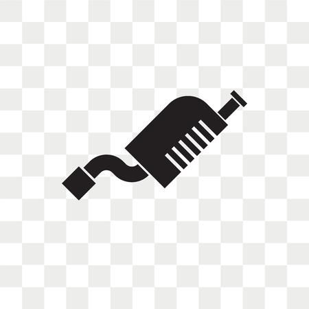 Ikona wektor spalin na przezroczystym tle, koncepcja logo spalin