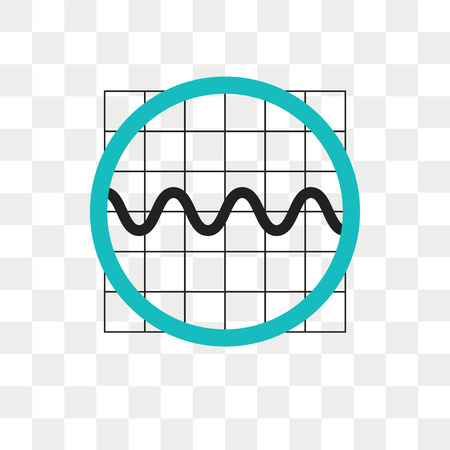 Sine wave graphic vector icon isolated on transparent background, Sine wave graphic logo concept Stock Illustratie