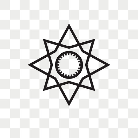 Cardinal points on winds star vector icon isolated on transparent background, Cardinal points on winds star logo concept Banque d'images - 108559330