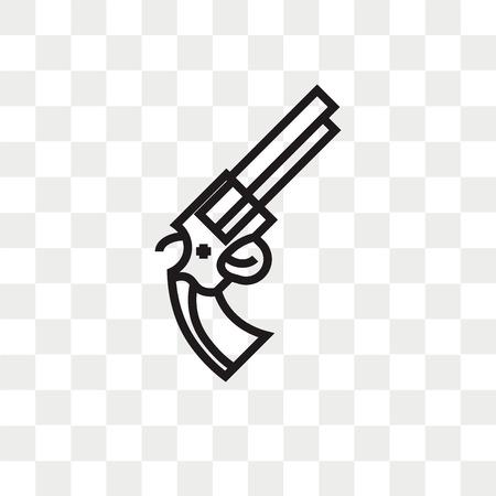 Revolver vector icon isolated on transparent background, Revolver logo concept Stock Vector - 108559403