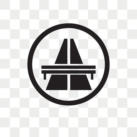 flyover bridge vector icon isolated on transparent background, flyover bridge logo concept