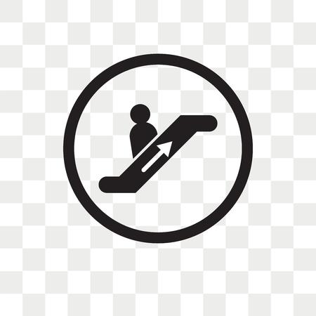 Escalator Going Down vector icon isolated on transparent background, Escalator Going Down logo concept Foto de archivo - 108559434