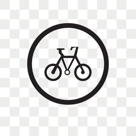 透明な背景、自転車のロゴコンセプトで分離自転車ベクトルアイコン