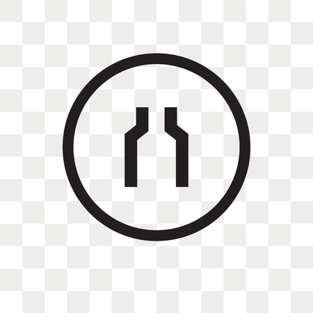 Narrow Two Lanes vector icon isolated on transparent background, Narrow Two Lanes logo concept