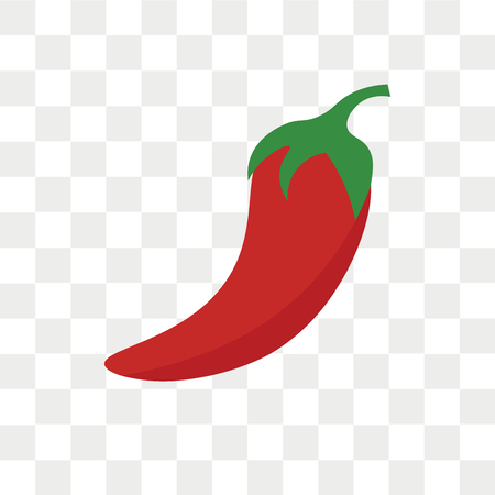 Icono de vector de pimienta aislado sobre fondo transparente, concepto de logo de pimienta Logos