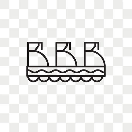 Trolley vector icon isolated on transparent background, Trolley logo concept