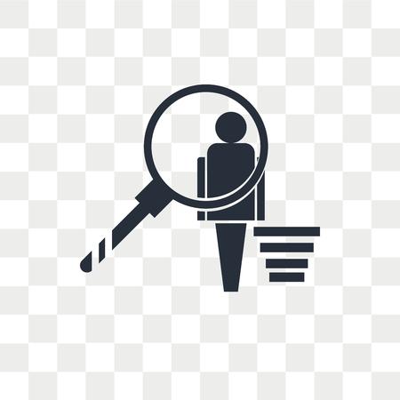 User behavior vector icon isolated on transparent background, User behavior logo concept Illustration