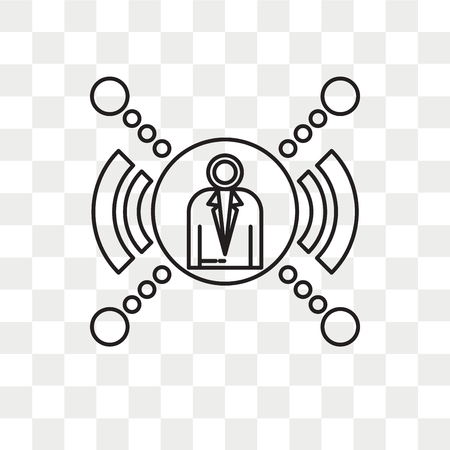 Networking vector icon isolated on transparent background, Networking logo concept