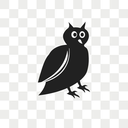 Big Owl vector icon isolated on transparent background, Big Owl logo concept Illustration