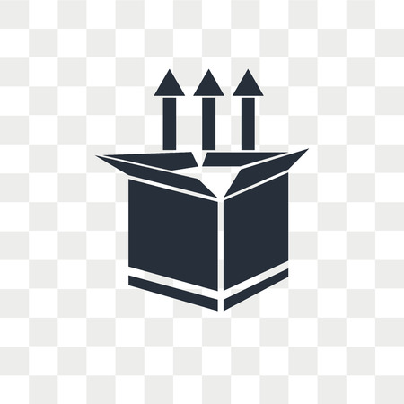Icono de vector de lanzamiento de producto aislado sobre fondo transparente, concepto de logo de lanzamiento de producto