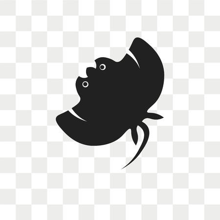 Manta ray vector icon isolated on transparent background, Manta ray logo concept