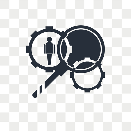 HR Services vector icon isolated on transparent background, HR Services logo concept