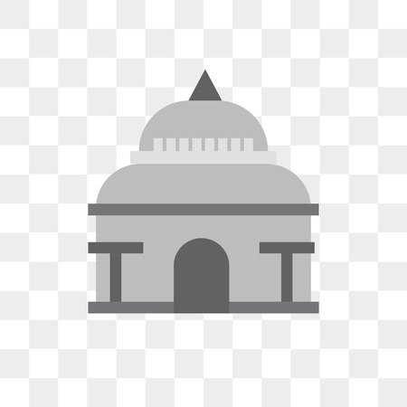 Capitol vector icon isolated on transparent background, Capitol logo concept Çizim