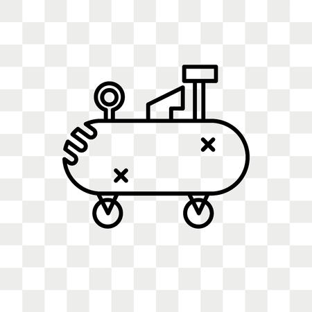 Icône de vecteur de compresseur d'air isolé sur fond transparent, concept de logo de compresseur d'air