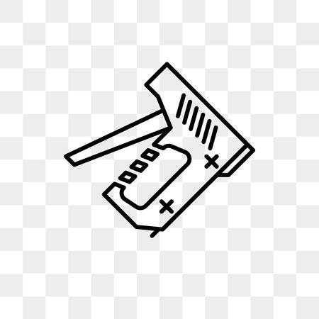 Icône de vecteur de pistolet à agrafe isolé sur fond transparent, concept de logo de pistolet à agrafe