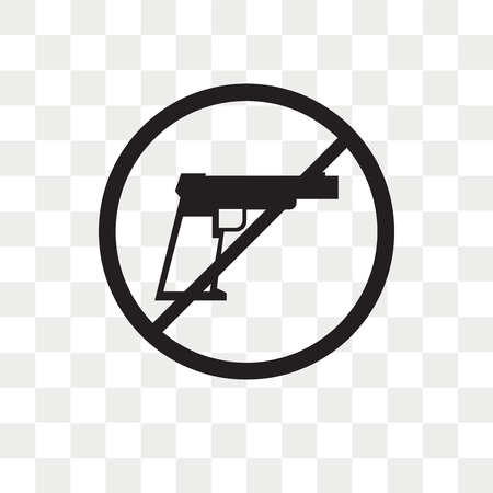 No arms vector icon isolated on transparent background, No arms logo concept Illustration