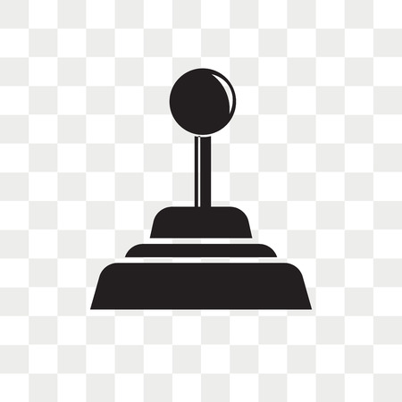 Gearshift vector icon isolated on transparent background, Gearshift logo concept