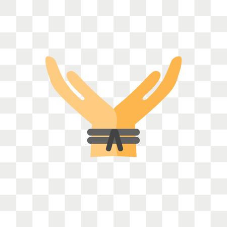 Entführungsvektorsymbol lokalisiert auf transparentem Hintergrund, Entführungslogokonzept Logo