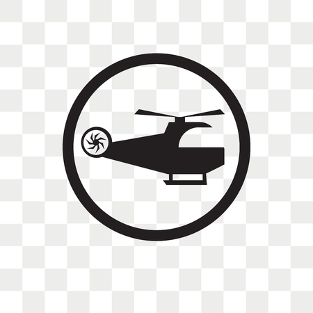 Heliport vector icon isolated on transparent background, Heliport logo concept