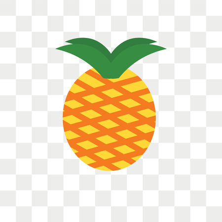 Icono de vector de piña aislado sobre fondo transparente, concepto de logo de piña