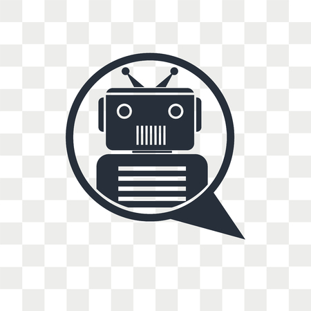 Chat bot vector icon isolated on transparent background, Chat bot logo concept Stock fotó - 108456717