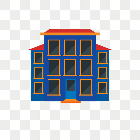 House vector icon isolated on transparent background, House logo concept Logo